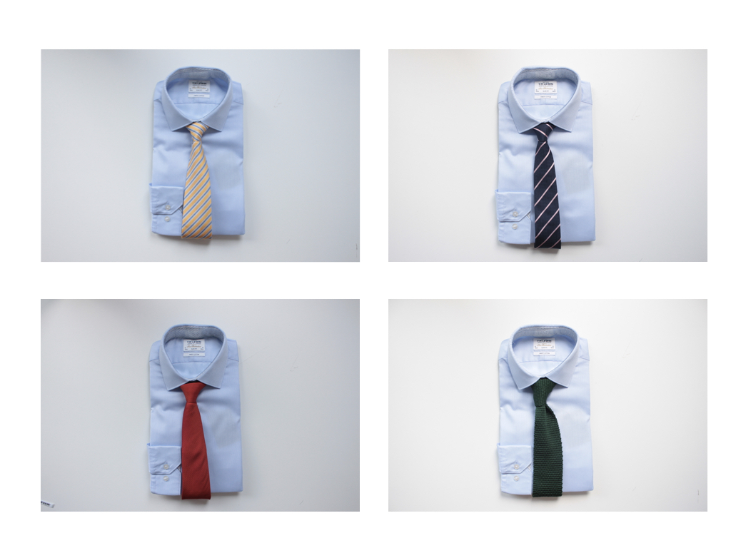 What colour tie goes with a light blue shirt